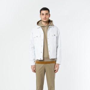 Oak + Fort White Denim Jacket (Unisex)